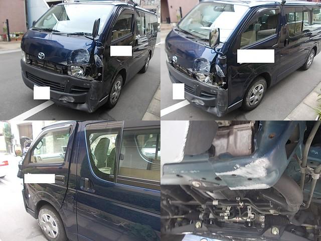 ➂ ハイエース 事故車(AT車) 高価買取り (^^♪